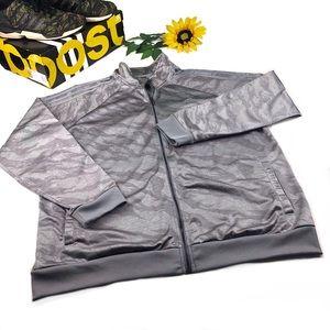 Adidas Camo Track Striped Jacket Gray Tiger